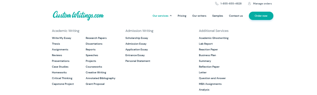 Customwritings List of Services