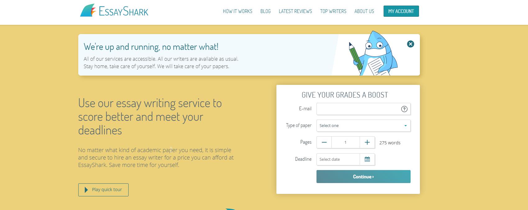 essayshark-homepage