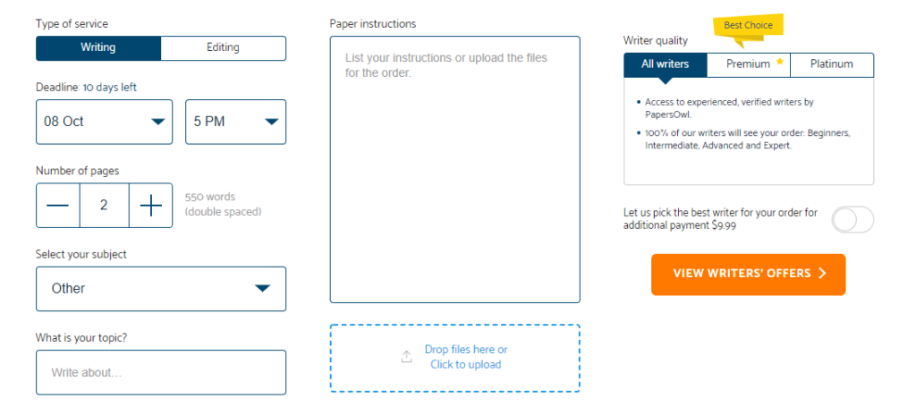 Papersowl Prices