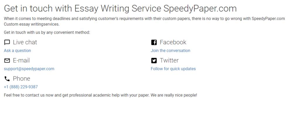 Speedypaper Support