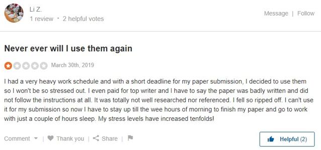 Writemypapers Testimonials