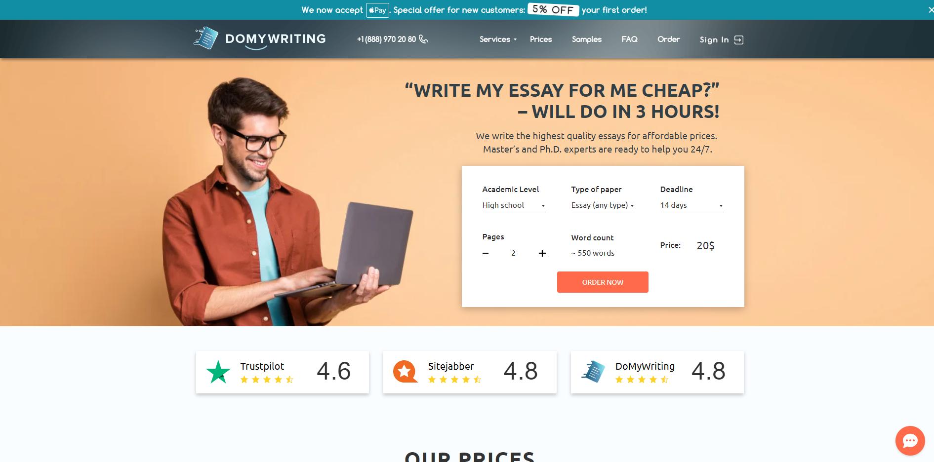 domywriting-website